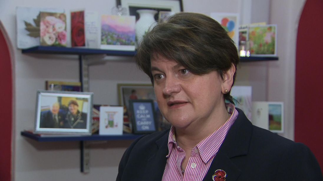 DUP leader Arlene Foster said unionists cannot support a Norther Ireland-specific backstop