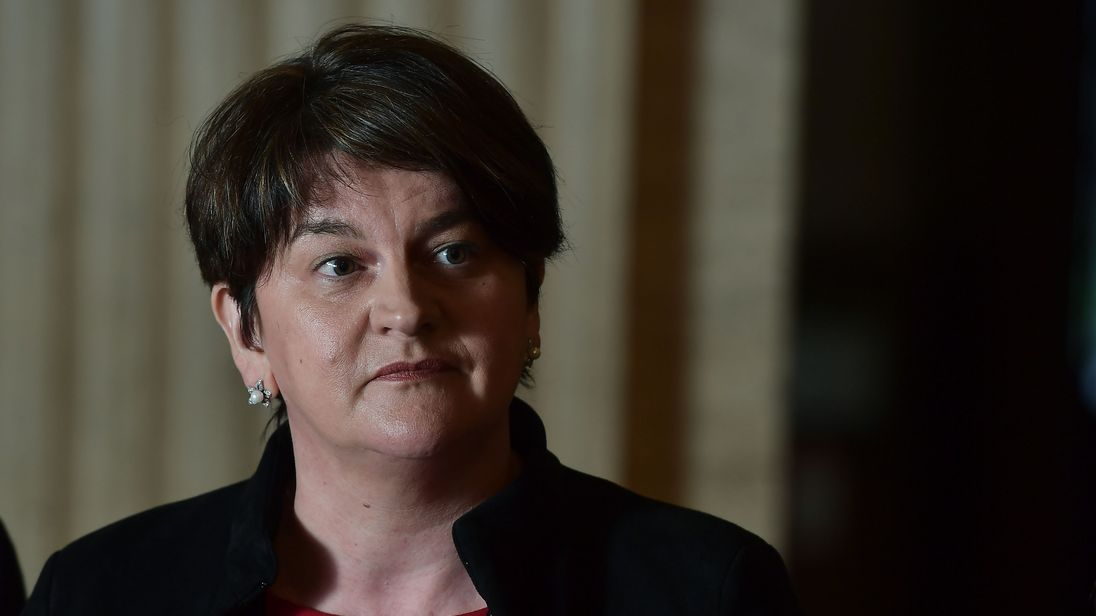 The DUP's Arlene Foster is unhappy with draft deal