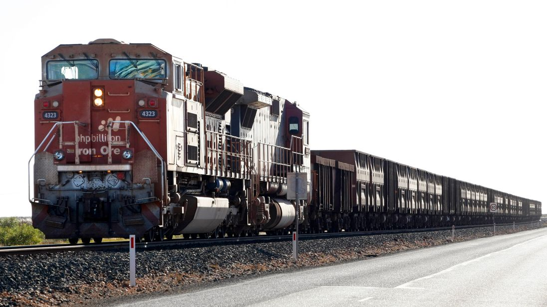 Billiton train in Western Australia