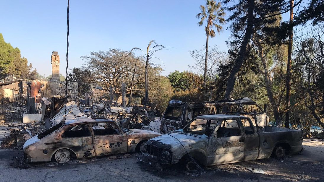 'HALF-GONE': Celebrity homes destroyed in California wildfires
