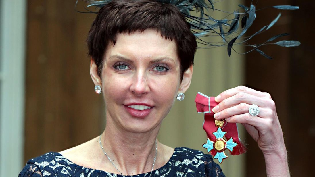 bet365 Chief Executive Denise Coates with her Commander of the British Empire (CBE) medal which was presented by the Prince of Wales during an Investiture ceremony at Buckingham Palace, central London 15/5/2012