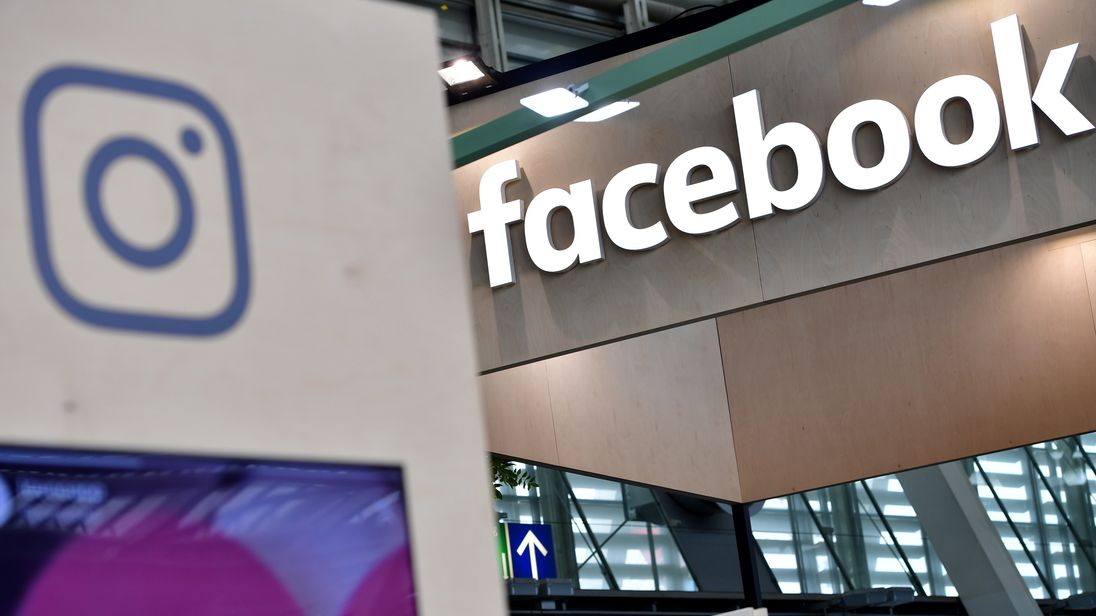 HANOVER, GERMANY - JUNE 12: The Instagram and Facebook logos are displayed at the 2018 CeBIT technology trade fair on June 12, 2018 in Hanover, Germany. The 2018 CeBIT is running from June 11-15. (Photo by Alexander Koerner/Getty Images)