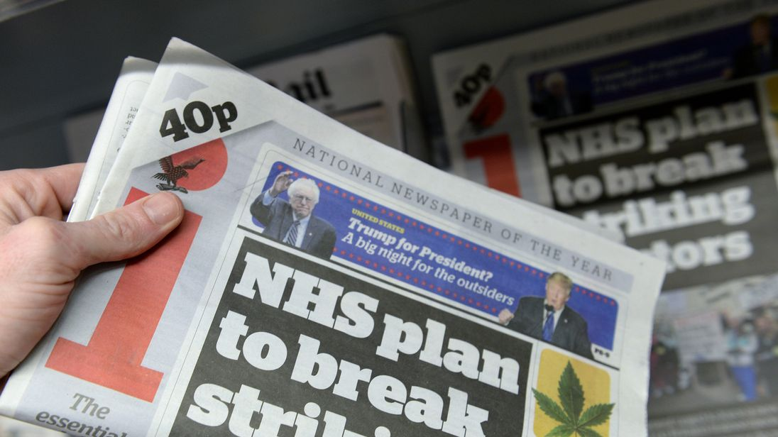 Newspaper giant Johnston Press on brink of administration