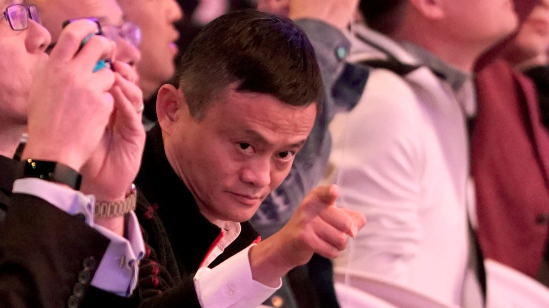 Alibaba Group co-founder and Executive Chairman Jack Ma gestures during Alibaba Group's 11.11 Singles' Day global shopping festival in Shanghai, China, November 11, 2018.