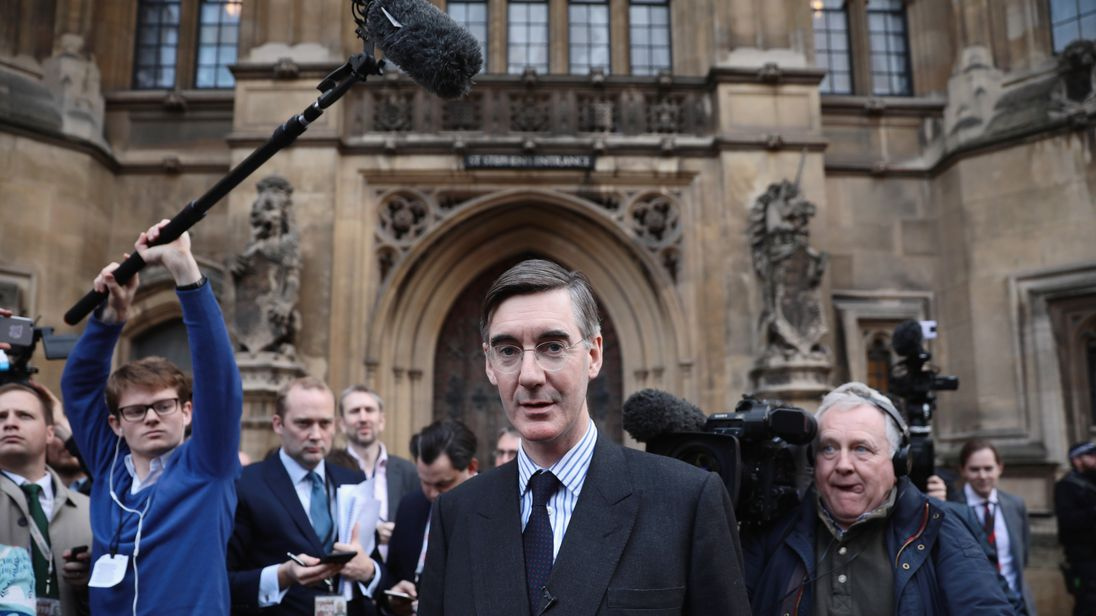 Jacob Rees Mogg was one of the first MPs to submit his letter of no confidence in the PM