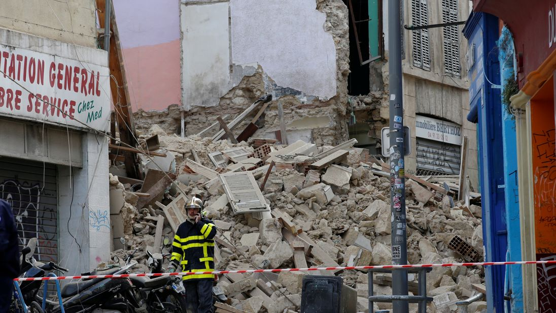 Up to eight feared dead in France after Marseille building collapse