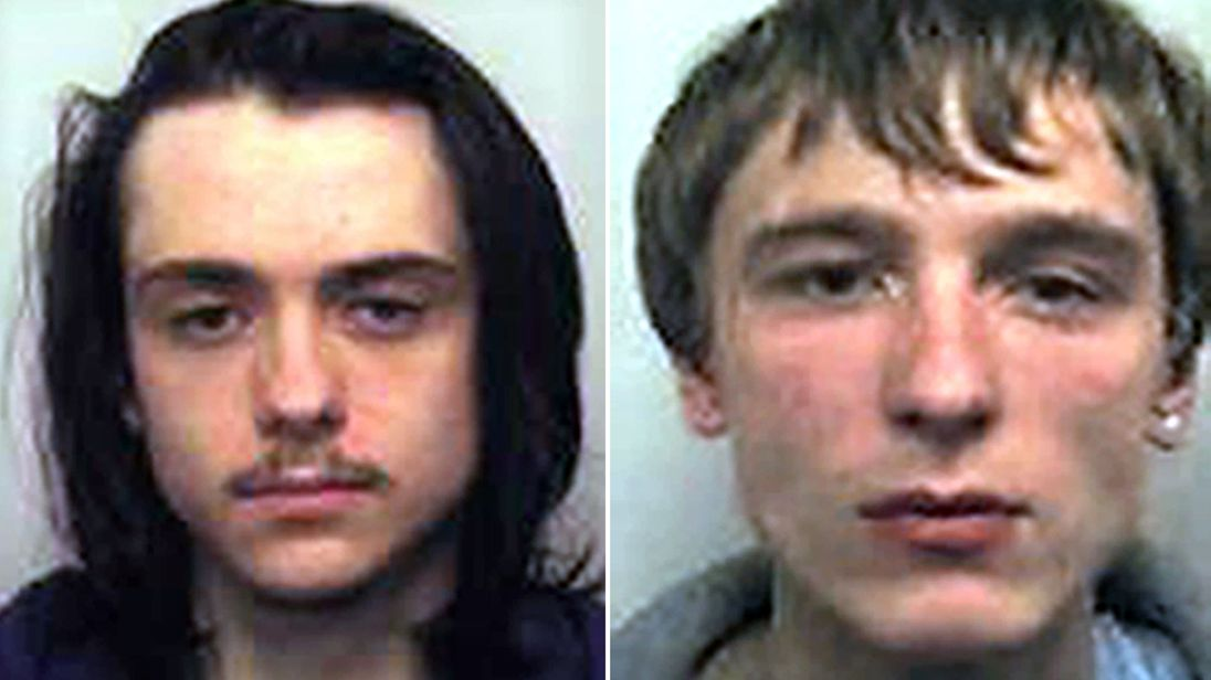 Matthew Hanley (L) and Connor Allsopp have been jailed