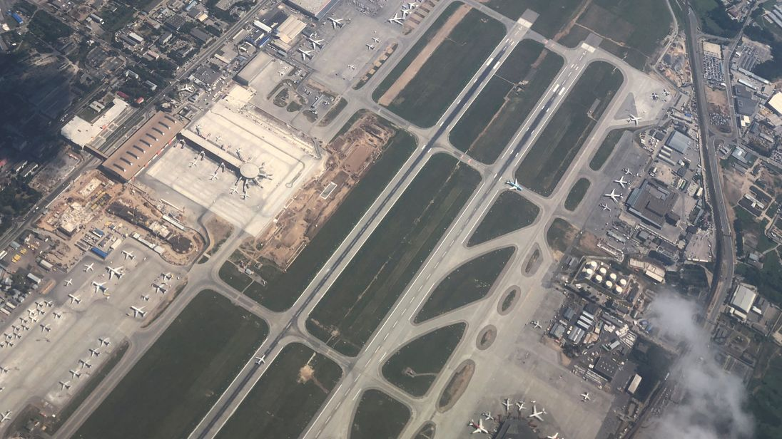 The man was hit and killed on the runway at Sheremetyevo International Airport in Moscow