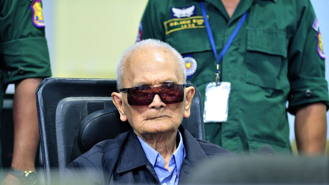Khmer Rouge leader Nuon Chea in court
