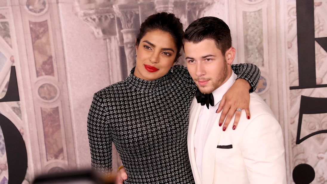 Priyanka Chopra and Nick Jonas pictured during New York Fashion Week in September