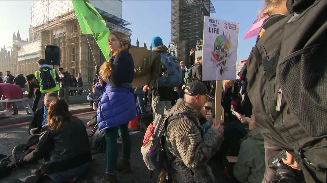 Extinction Rebellion protests block London bridges