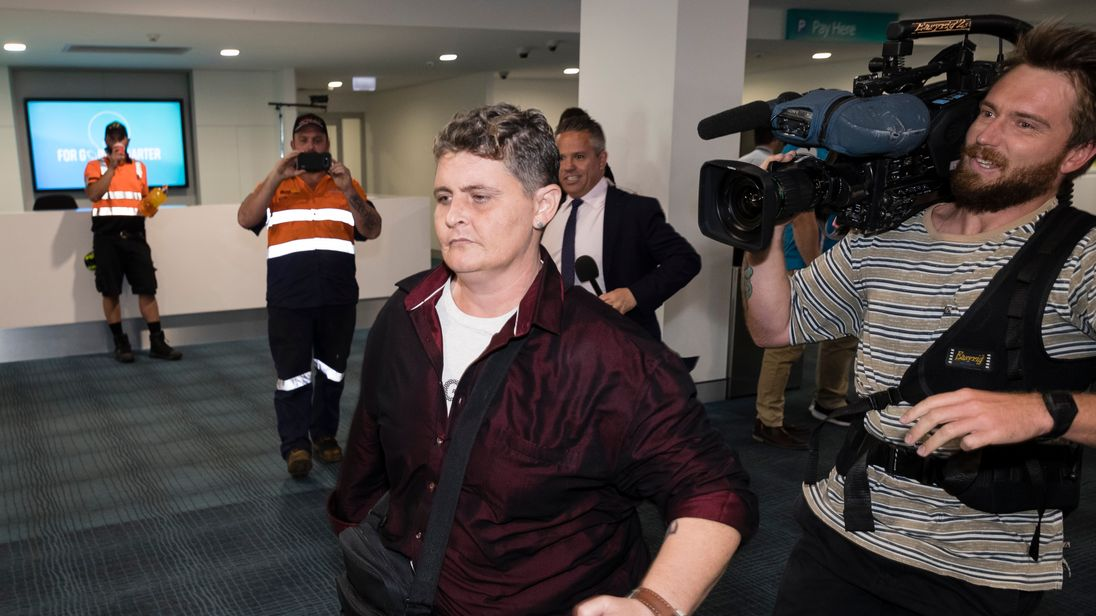 Bali Nine drug smuggler Renae Lawrence hands herself in to police