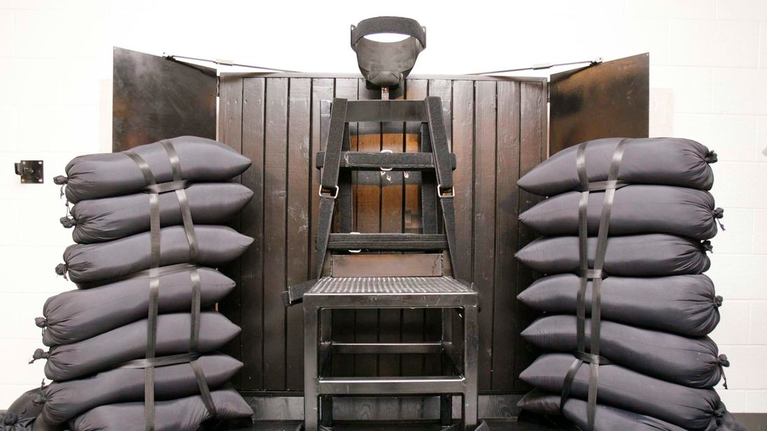 The execution chamber in Utah where the murderer Ronnie Lee Gardner was killed by firing squad