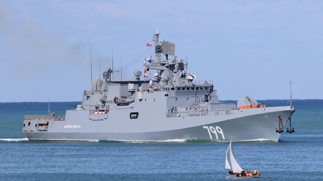 A guided-missile frigate joined Russia's Black Sea fleet in Crimea in October