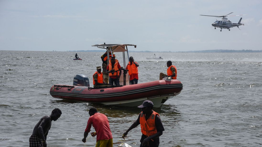 Uganda police continue recovery of bodies after boat accident