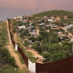The existing US border wall in Nogales, Arizona.