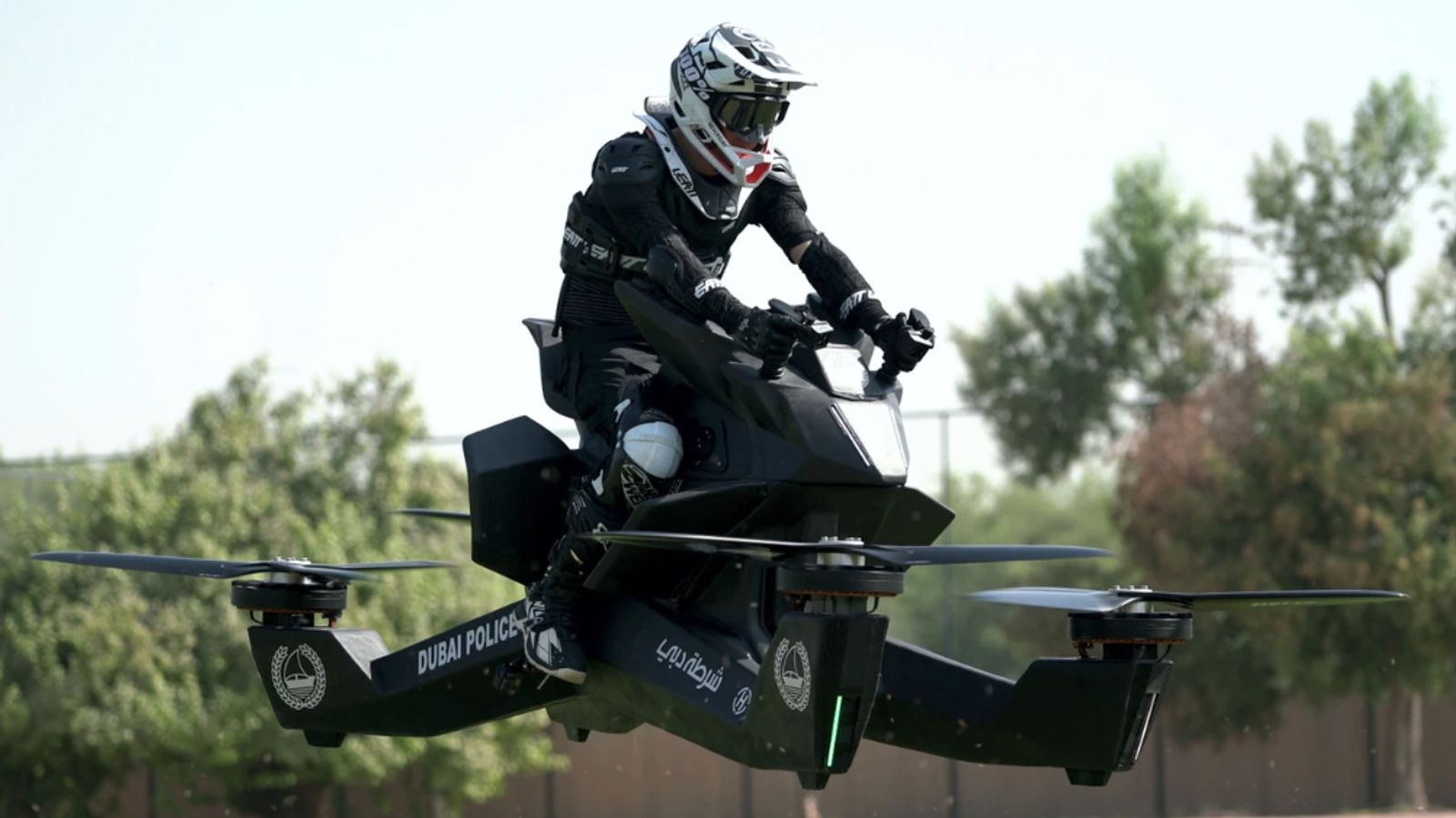 Dubai police training on flying motorbikes ahead of planned 2020 launch