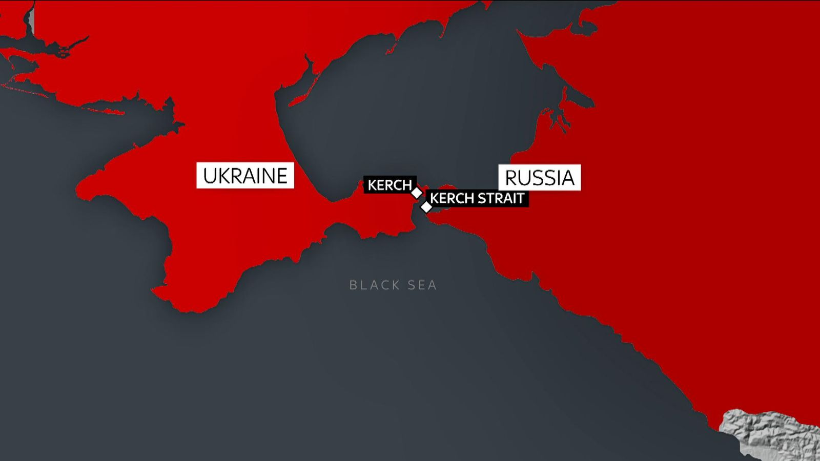 Ten crew members dead as gas tankers catch fire near Crimea