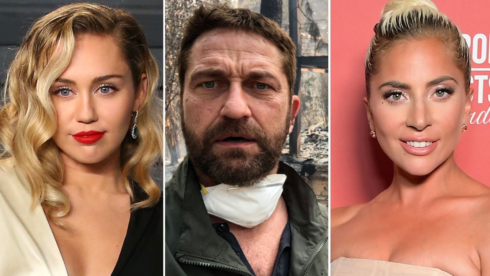 The celebrities caught up in the California wildfires