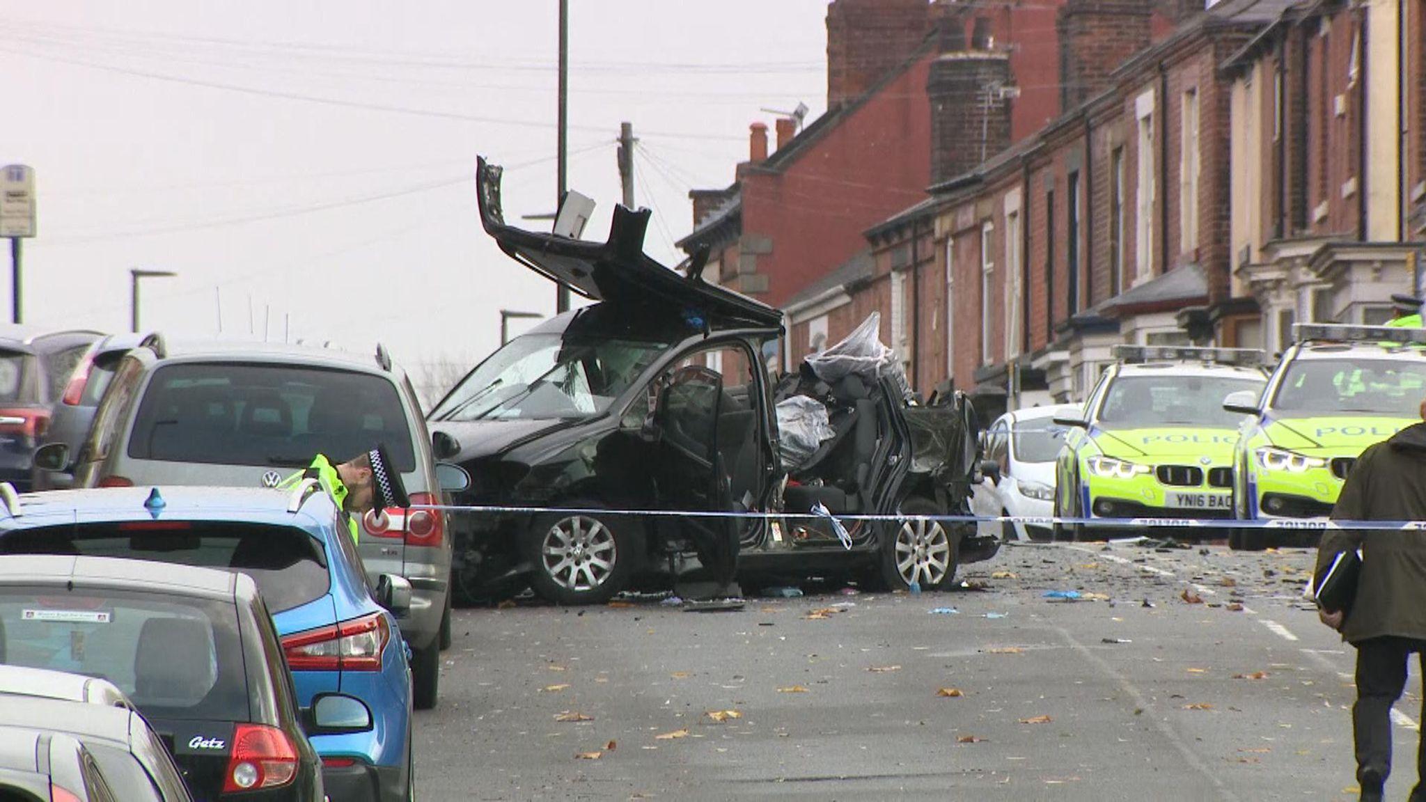 e0e1aa6920 Four killed in Sheffield crash after police chased car | UK News | Sky News