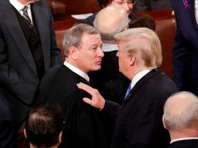 Donald Trump and Chief Justice John Roberts