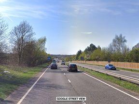 A20 near Swanley in Kent