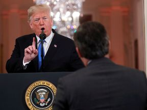 Donald Trump berated CNN reporter Jim Acosta during the conference