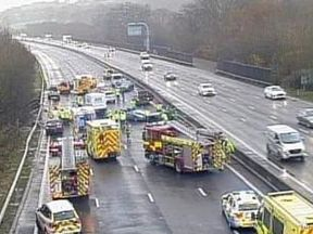 Police have urged drivers to obey lane closures. Pic: Highways England