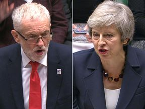 Jeremy Corbyn and Theresa May