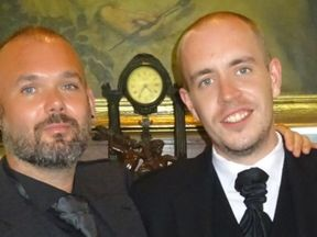Jon Paul McAllister (L) with his partner Craig Park
