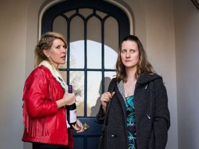 Julia Davis (Emma) and Catherine Shepherd (Sally) in Sky Atlantic show Sally4Ever