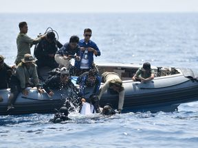 The underwater search operation has been hampered by strong currents