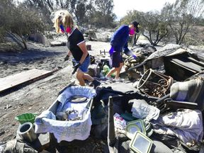 Katherine Marinara and her son Luca return to their fire-ravaged home in Malibu