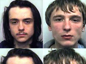 Matthew Hanley (L) and Connor Allsopp have been jailed