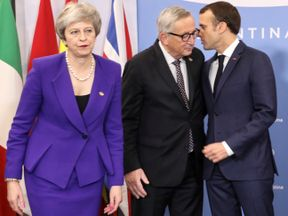 Theresa May is at the G20 summit with other European leaders