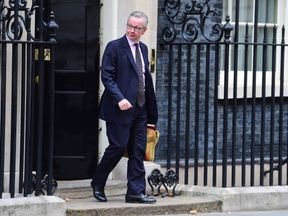 Michael Gove pictured in Downing Street
