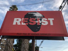 A billboard in Los Angeles days before the midterm elections