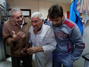 The father of Palestinian Khaled Sultan, who was killed in an Israeli air strike on Tuesday