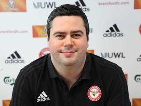 Brentford's technical director Robert Rowan has died aged 28. Pic: brentfordfc.com
