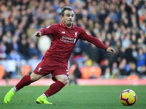 Liverpool's Swiss midfielder Xherdan Shaqiri has been left out of Tuesday's game against Serbia