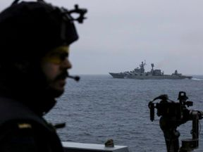 The Royal Navy has been tasked with keeping track of Russian Slava-class cruiser Marshal Ustinov
