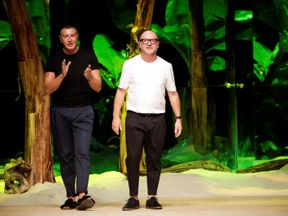 Stefano Gabbano (L) caused controversy with his apparent reaction to criticism of D&G ads
