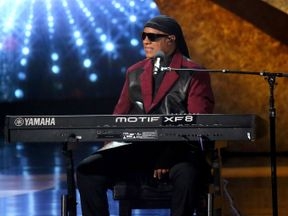 """Stevie Wonder at """"Q 85: A Musical Celebration for Quincy Jones"""" presented by BET Networks at Microsoft Theater on September 25, 2018 in Los Angeles, California."""