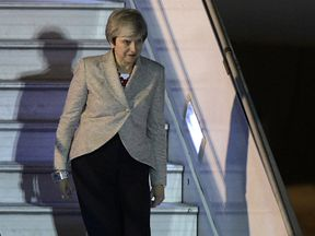 Prime Minister Theresa May lands in Argentina