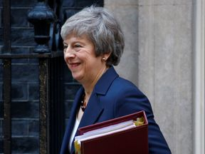 Britain's Prime Minister, Theresa May, leaves 10 Downing Street