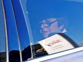 Theresa May leaving Sky