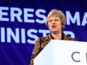The prime minister gave her speech to the CBI