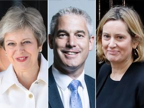 Theresa May, Stephen Barclay and Amber Rudd