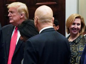 Mira Ricardel to be fired appeared with Donald Trump at a Diwali ceremony as Mrs Trump called for her to go
