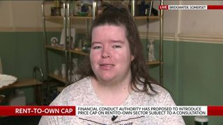Rent-to-own customer Sadie Trent